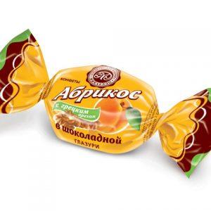 Абрикос с грецким орехом в шоколадной глазури  (цена за 1 кг)